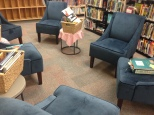 New cozy reading space in the Library.