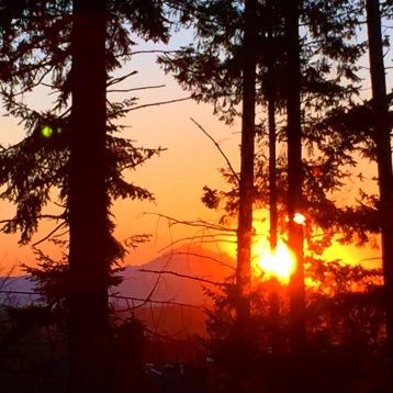 Beautiful sunrise as seen from an upper floor classroom.