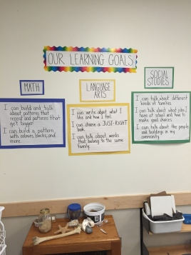Sharing learning goals gives students a target and tells them what they are supposed to be learning.
