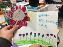 Visiting kindergarten classes is always fun because of all the cards and drawings you receive.