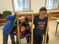 Hands-on learning - framing a wall.