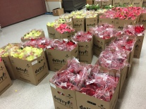Poinsettia orders arrive. Thank you for your orders!