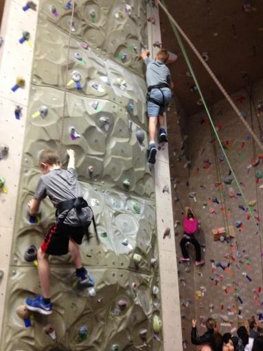 Grade 6 rock climbing