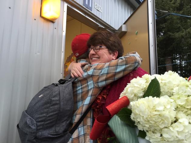Hugs on last day