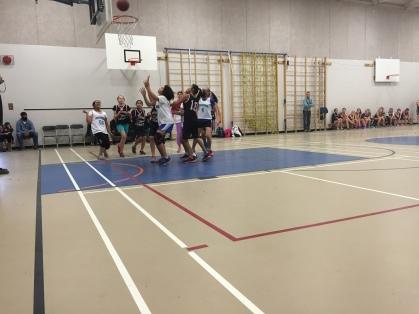 Girls basketball action