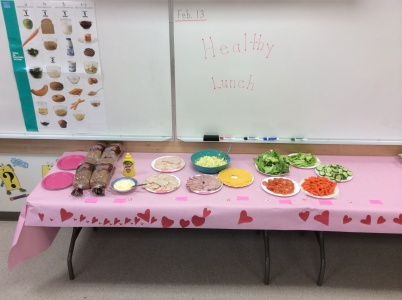 Healthy lunch in Ms. Padam's class