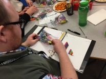 Teachers...learners too! Teachers learn about cuisenaire rods.
