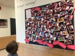 This new display of staff photos attracted a lot of attention this week.