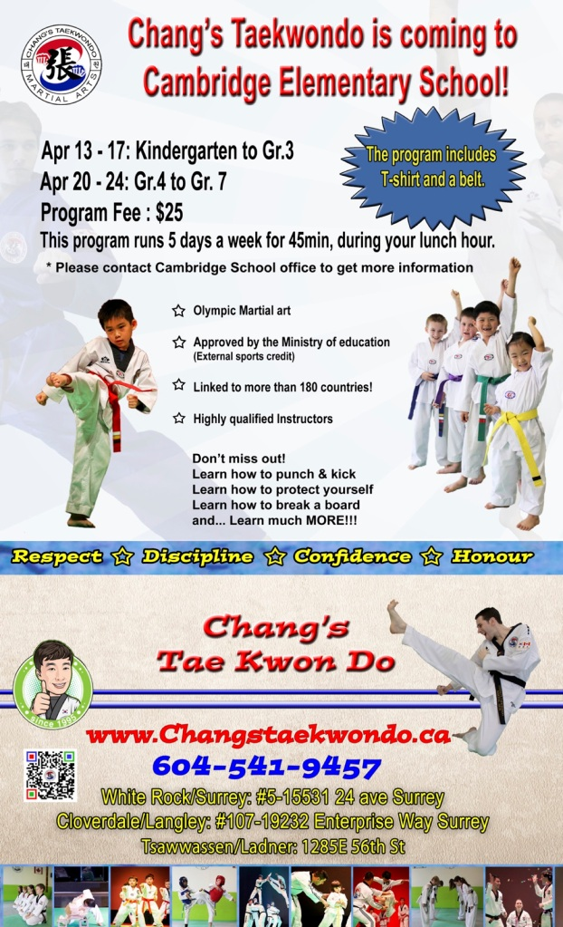 Cambridge Elementary Taekwondo