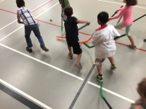 Grade 2/3 Floor Hockey Action