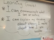 Making learning goals visible.
