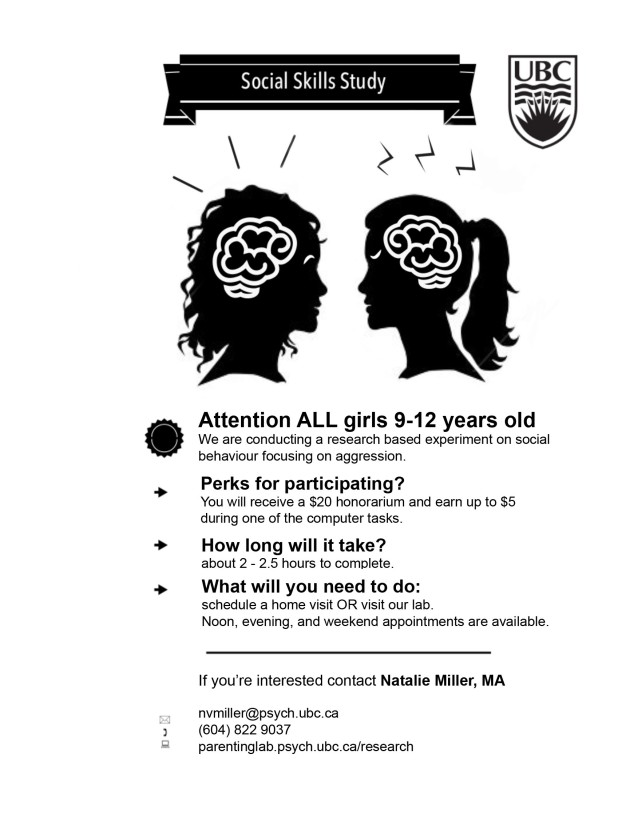 Social Skills Study Flyer Girls