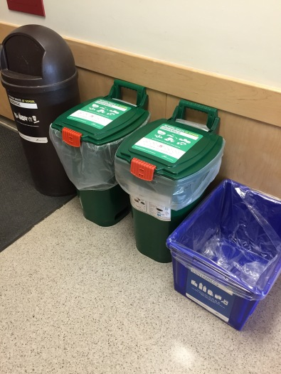 Organics collection bins