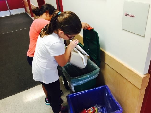 Students take ownership of school recycling