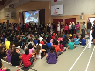 Staff introduce themselves to students