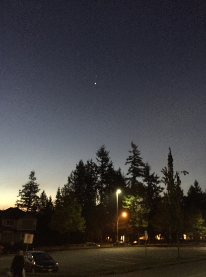 Venus and Jupiter in the morning sky over Cambridge