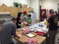 Awesome Cambridge parents prepare hot lunch.