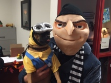 Gru and his minion, Pip.
