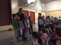 "Kindergarten students share ""The Giving Project"""