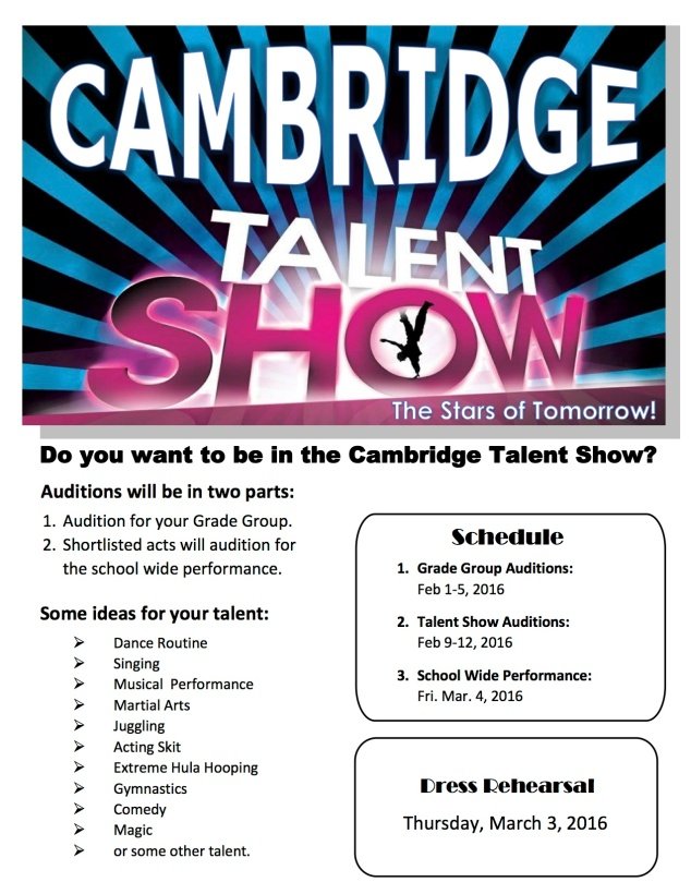Talent Show Information1
