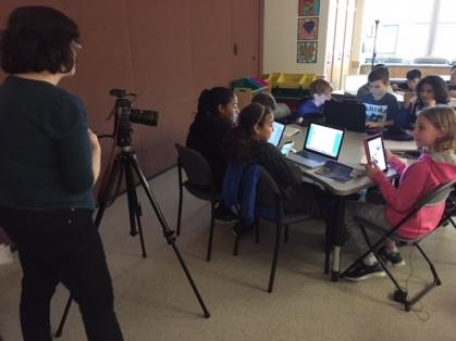 Vancouver Sun reporter Tracy Sherlock interviews students about digital portfolios