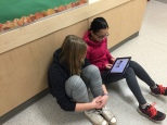 Students documenting their learning