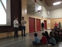 Mr. Morrison and Mr. Stemler explain the structures challenge