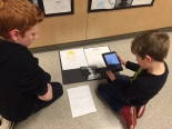 Student documenting their learning