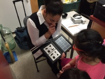 Kindergarten vision and hearing screening.