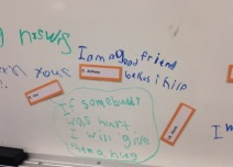 Grade 1/2 students reflect...how are you a good friend?