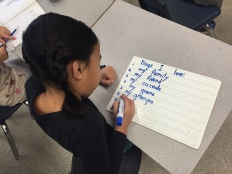 Students reflection...what are you thankful for?