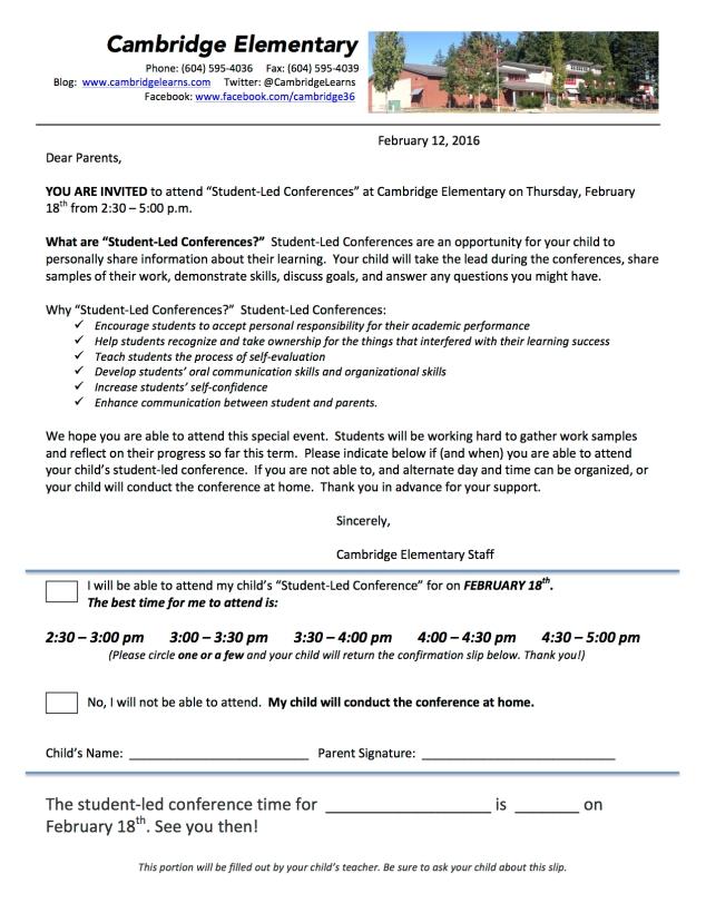 Student Led Invite 2016