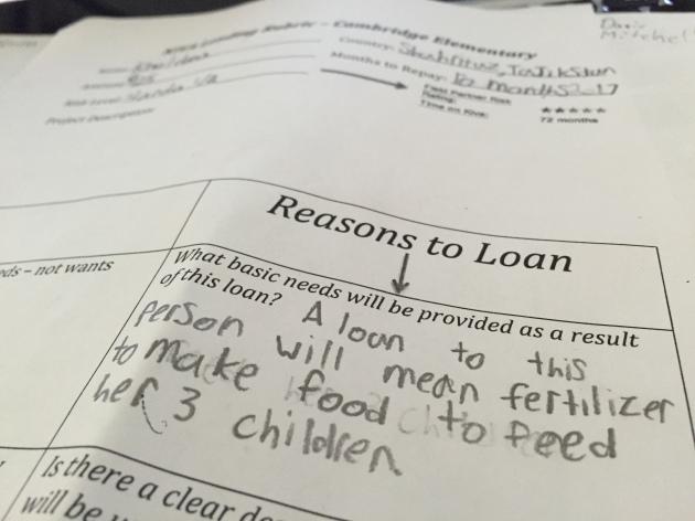 Students make KIVA loans on International Women's Day