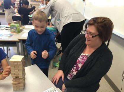 Parents learning alongside their children