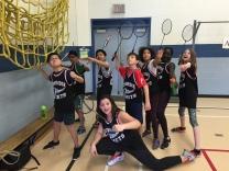 Badminton action heros