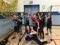Badminton action heros