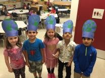 Wacky hair and hat day