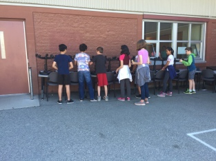 You see stools? These kids see gears!