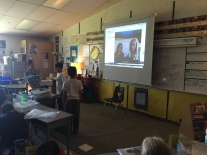 Practicing for their first MysterySkype