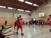 RCMP vs Grade 7 basketball game