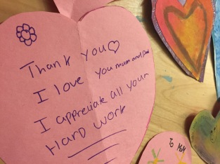 Love notes...Parent Appreciation Tea