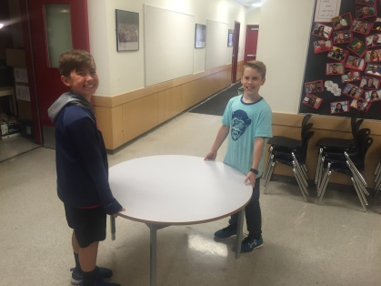 New tables being moved.