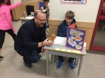 A district guest, Lee Crocket tests his estimating strategies.