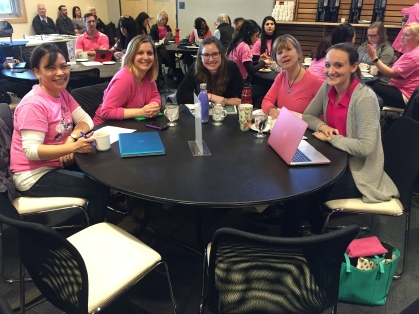Teachers at Fresh Grade Friday lunch meeting.