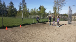 Track practice - long jump