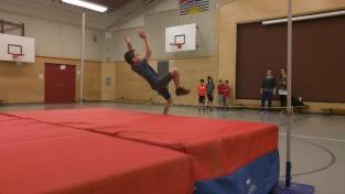 Track practice - high jump