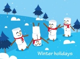 winter_holidays_background_cute_snowman_icons_decor_6838519